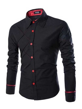 Tidebuy Fashion Slim Fit Men's Long Sleeve Shirt