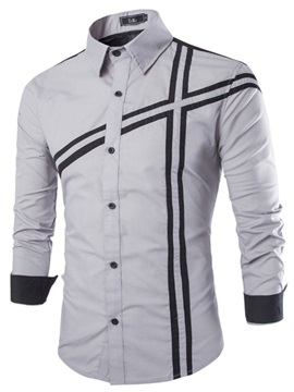 Slim Fit Square Neck Men Shirt