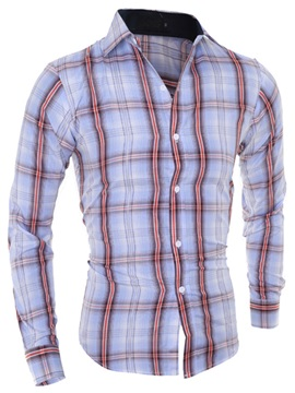 Colorful Stripe Slim Fit Men's Casual Shirt