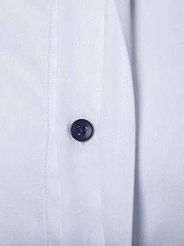 Half Placket Peaked Lapel Unbalanced Men's Shirt