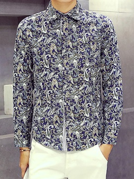 Floral Relaxed Fit Men's Leisure Shirt