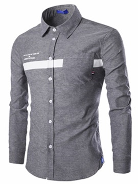 Oxford Stripe Men's Long Sleeve Shirt