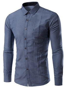 Plaid Pocket Men's Single-Breasted Casual Shirt