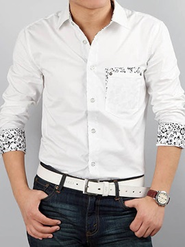 Floral Patchwork Men's Casual Shirt