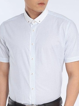 Patchwork Men's Standard Collar Shirt