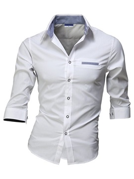 Casual Mock Pocket Men's Half Sleeve Shirt