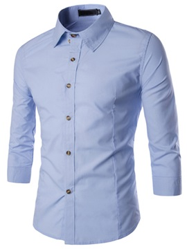 Casual Half-Sleeve Men's Single-Breasted Shirt