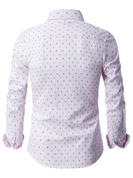 Geometric Print Casual Men's Long Sleeve Shirt