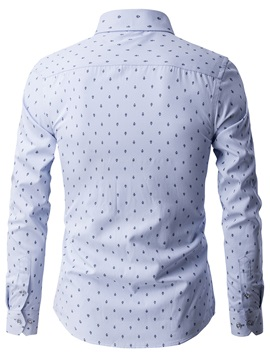 Pattern Print Long Sleeve Men's Casual Shirt