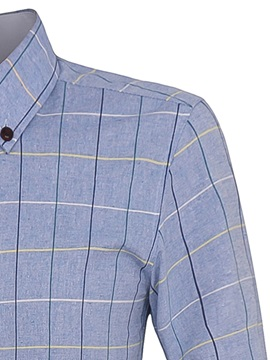 Check-Printed Men's Button-Down Shirt