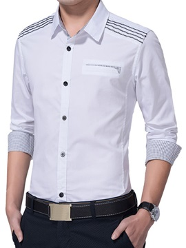 Vogue Wave Single-Breasted Men's Casual Long Sleeve Shirt