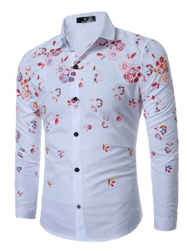 Floral Leisure Single-Breasted Men's Casual Shirt