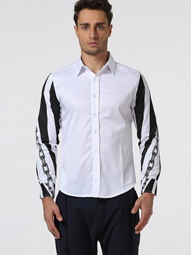 Stripe Standard Slim Fit Men's Leisure Shirt
