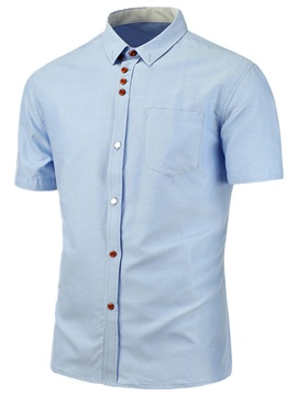 Summer Simple Pure Color Men's Shirt