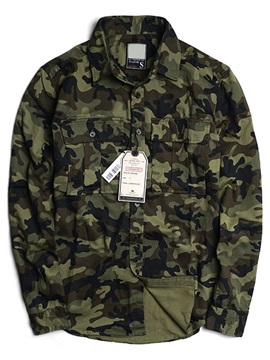 Camouflage Casual Pockets Men's Shirt