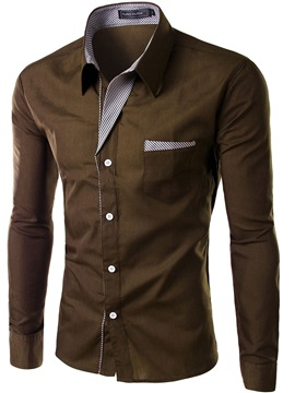 Solid Color Vogue Slim Fit Men's Shirt