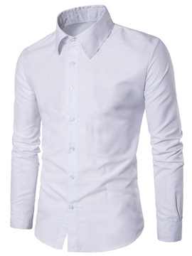Tidebuy Solid Color Men's Business Casual Shirt