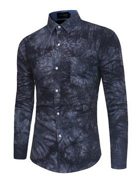 Tidebuy Floral Ink Painting Men's Slim Fit Shirt