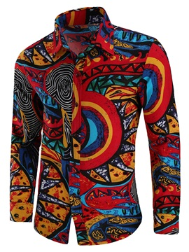 Tidebuy Colorful Doodle Print Men's Casual Shirt