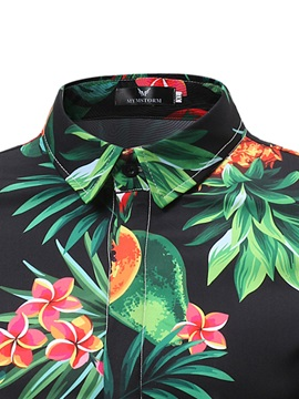 Tidebuy Hawaii Style Print Men's Short Sleeve Shirt