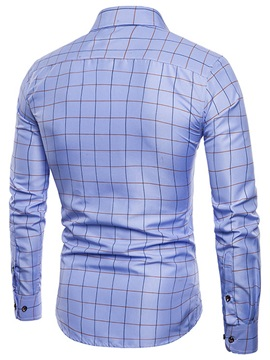 Tidebuy Solid Color Plaid Men's Dress Shirt