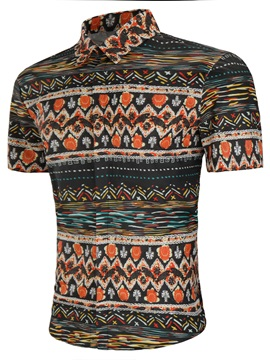 Tidebuy Ethnic Patchwork Men's Casual Shirt
