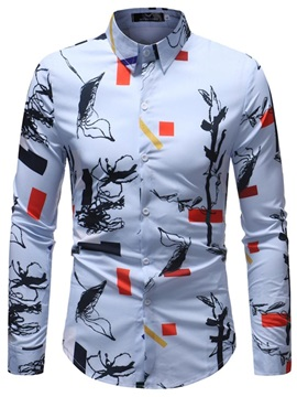 Tidebuy Lapel Graphic Men's Casual Shirt