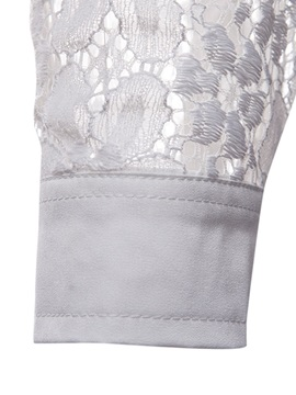 Tidebuy Arms Hollow Lace Men's Stylish Shirt