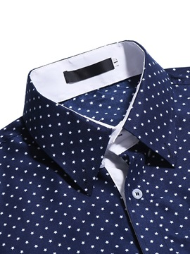 Polka Dots Lapel Men's Casual Shirt