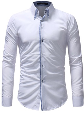 Solid Color Single-Breasted Men
