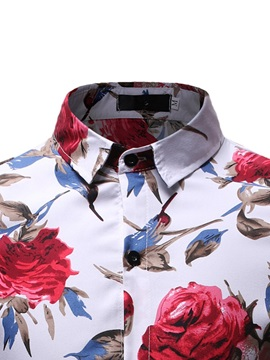 Floral Casual Lapel Men's Fashion Shirt