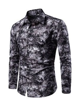 Lapel Floral Print Single-Breasted Men