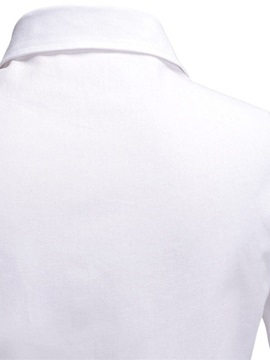 Plain Lapel Pocket Slim Men's Shirt