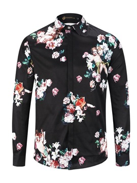 Floral Lapel Single-Breasted Men
