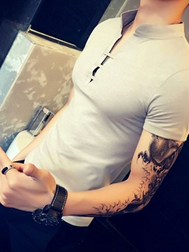 Plain Casual Slim Men's T-shirt