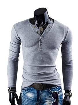 Plain Casual Pullover Men's T-shirt
