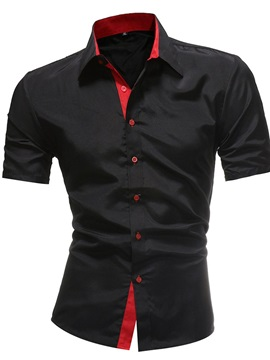 Button Lapel Casual Single-Breasted Men's Shirt
