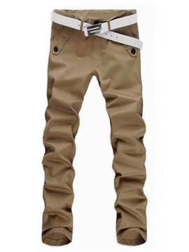 Men's Mid-Waist Cotton Casual Pants