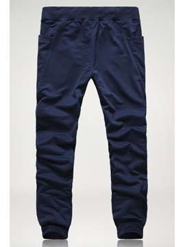 Mid-Waist Casual Cotton Pants