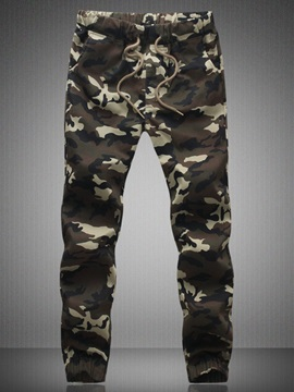 Mid-Waist Camouflage Pencil Pants