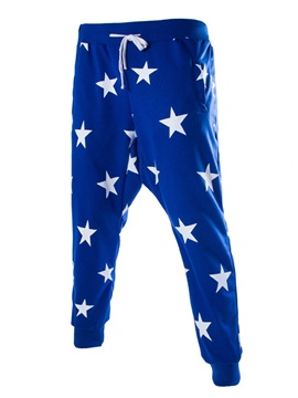 Fashion Graphic Five-pointed Star Low-waisted Men Pants