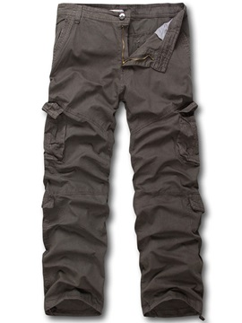 Men's Loose Fit Solid Color Hiking Sports Cargo Pants