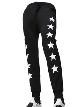 Loose Fit Stars Printed Men's Casual Sports Pants