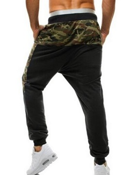 Camouflage Patched Lace Up Men's Sports Pants