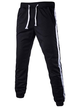 Lace-Up Bold Stripe Sports Men's Casual Pants