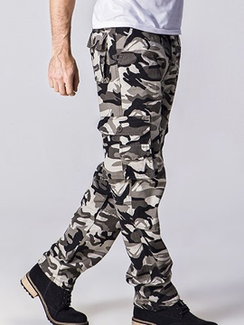 Camouflage Straight Loose Fit Men's Casual Pant