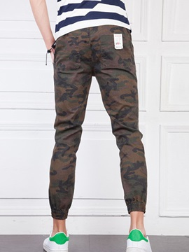 Camouflage Men's Elastics Casual Pants