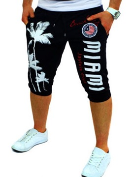 Vogue Print Sports Men's Mid-Calf Casual Pants