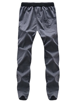 Lace-Up Letter Printed Men's Sports Casual Pants