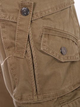 Solid Color Men's Cargo Pant